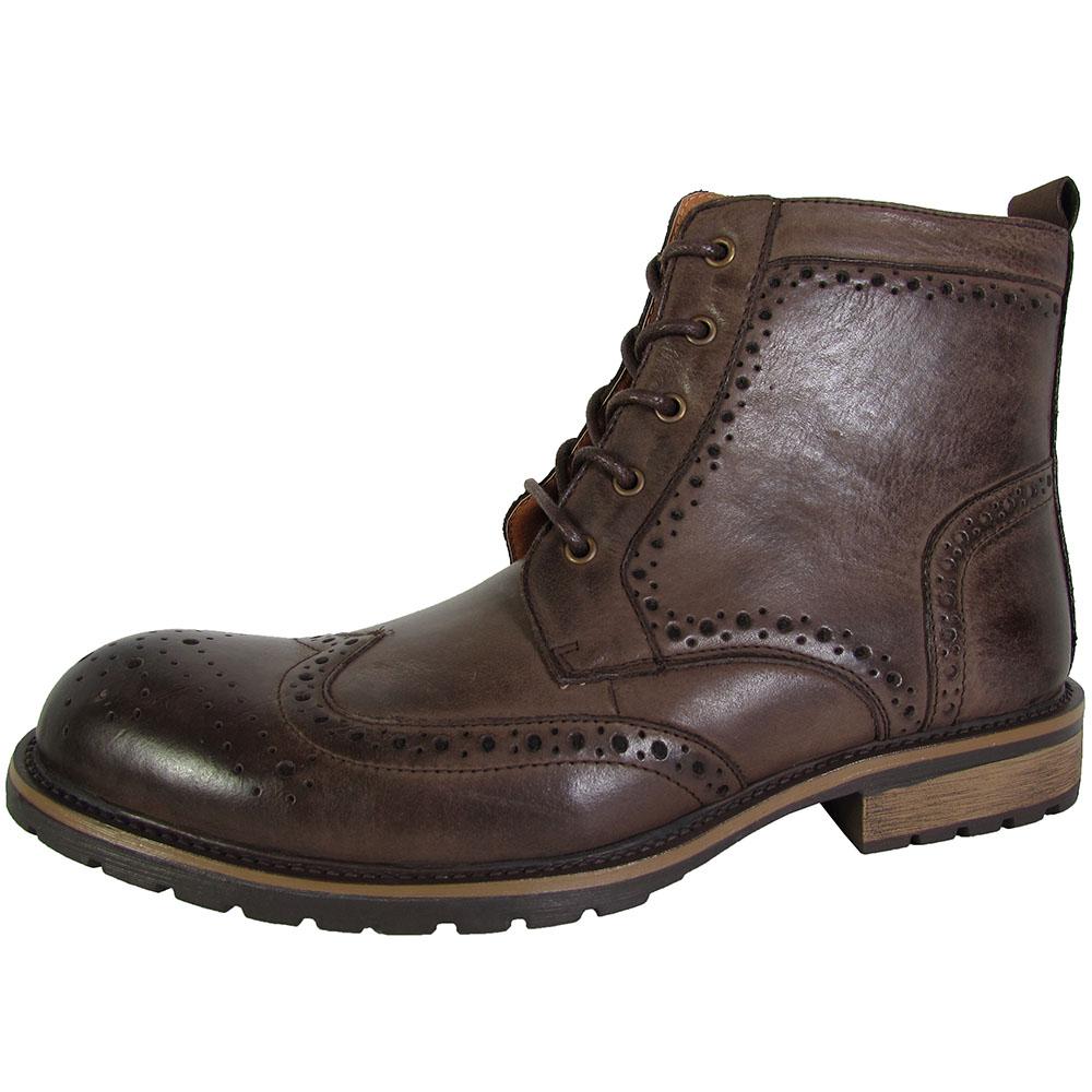steve madden mens sprocket wingtip ankle boot shoes