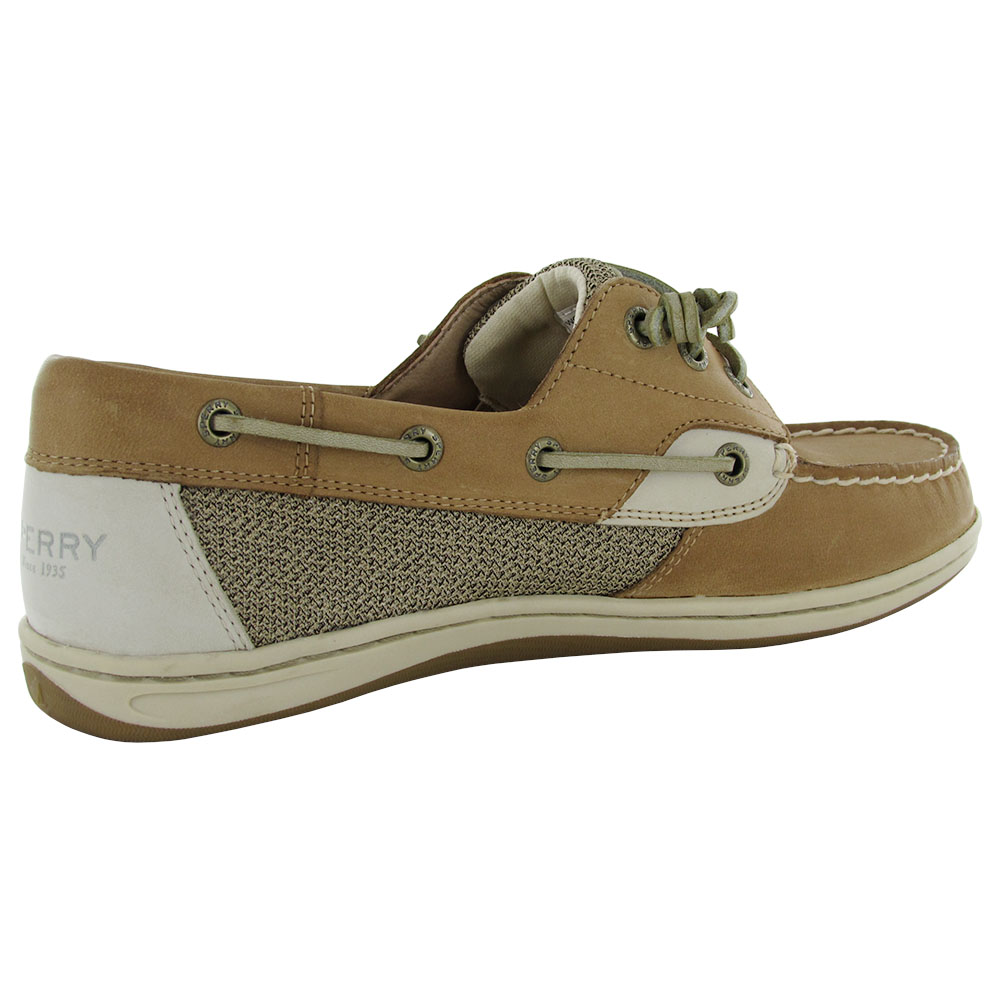 sperry womens songfish slip on 3 eye lace up boat