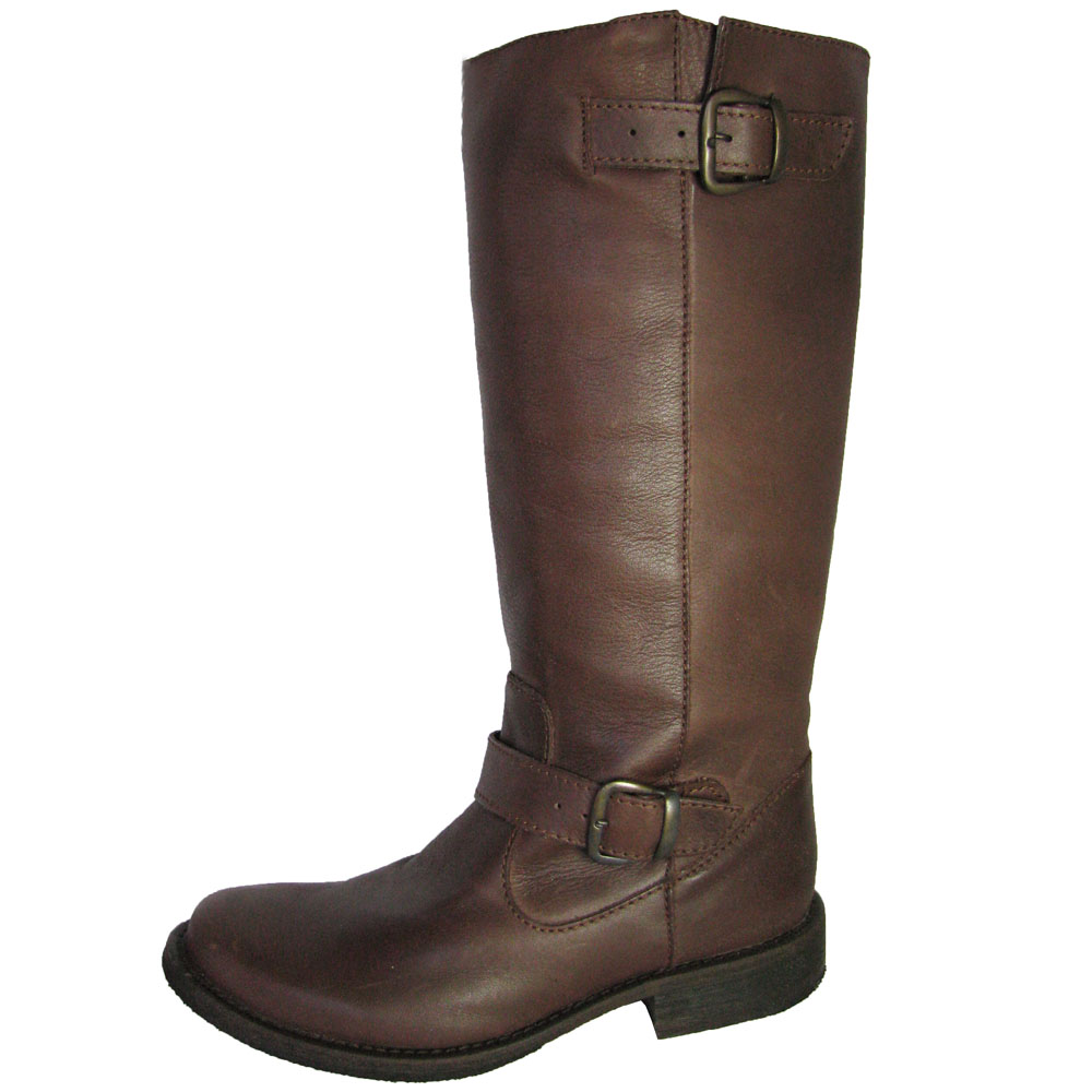 steve madden womens frencchh leather boot brown