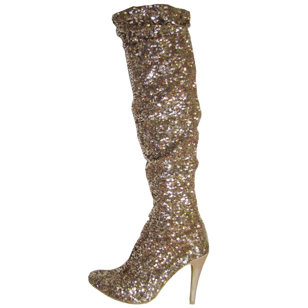 steve madden womens sequined evening boot ebay