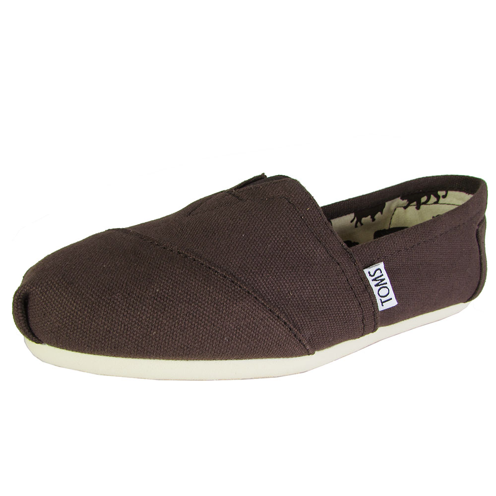 toms womens classic canvas slip on casual shoe