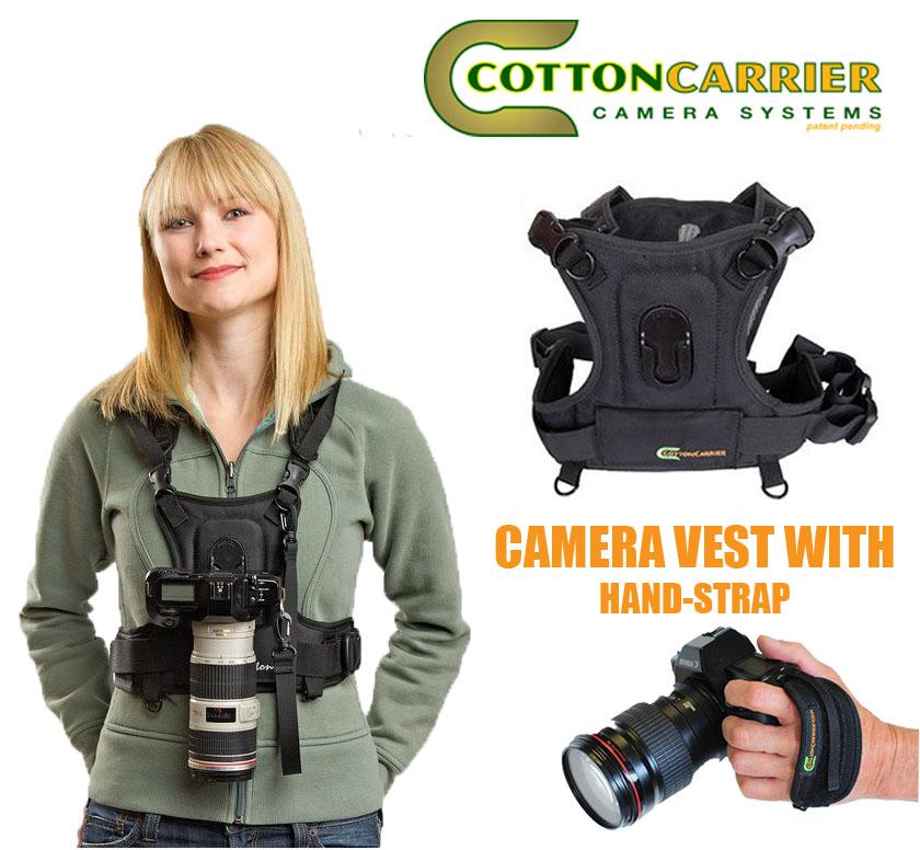 Cotton Carrier Camera Vest For 1 Camera Black 635rtl S