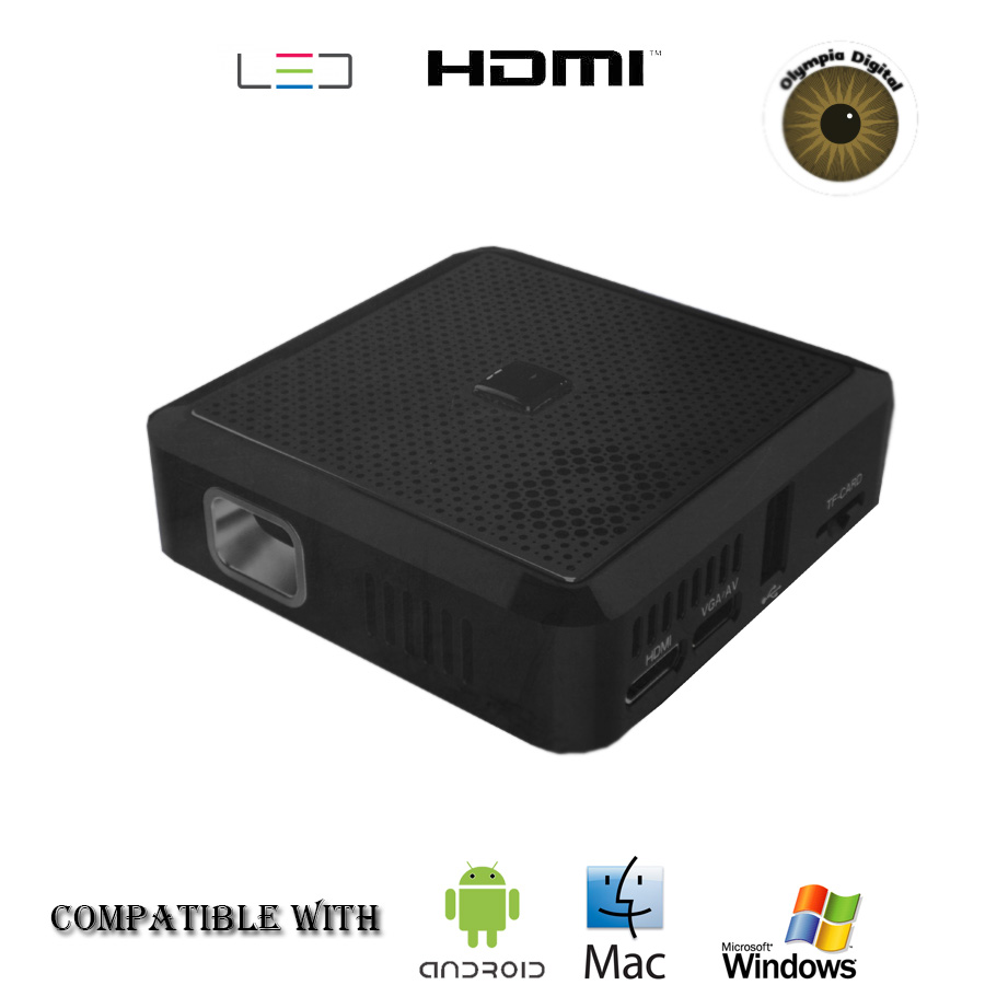 Olympia digital pocket projector x20 hdmi compatible with for Hdmi pocket projector