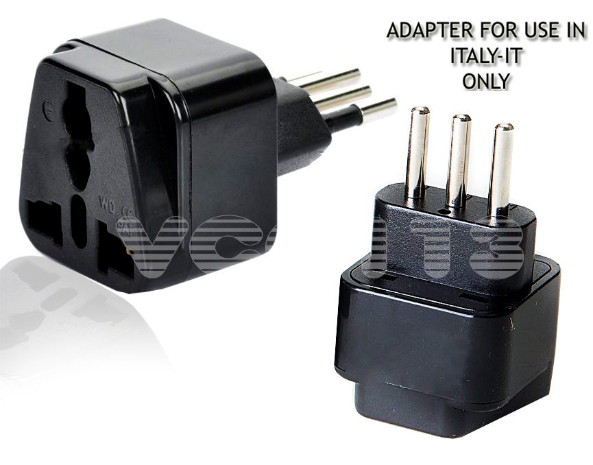 Usa Aus Uk To Italy Travel Adapter Ac Power Plug Multi Black Ebay