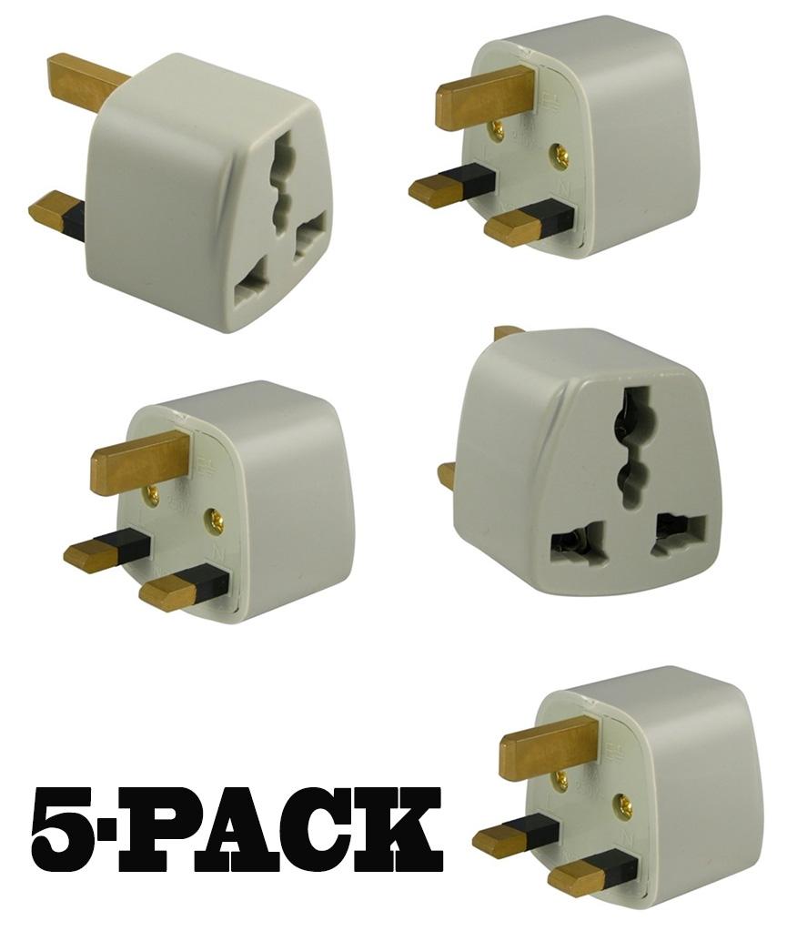 S 414 Travel Power Plug Adapter For Ingland Uk Ireland 5 Pack Ebay