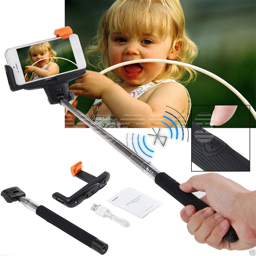 extendable handheld bluetooth selfie stick monopod for iphone 4 4s 5 5s 6 6 ebay. Black Bedroom Furniture Sets. Home Design Ideas
