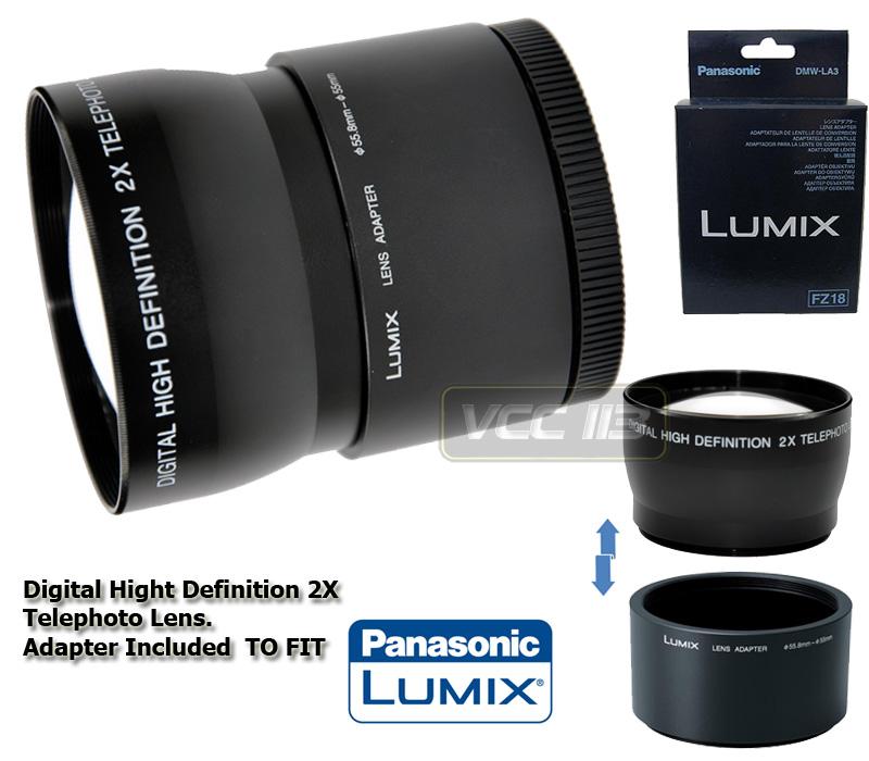 panasonic dmw la3 adapter 2x tele lens for dmc fz35 fz38. Black Bedroom Furniture Sets. Home Design Ideas
