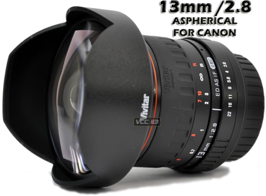 vivitar 13mm f 2 8 lens for canon eos 50d t2i 7d 5d t3i
