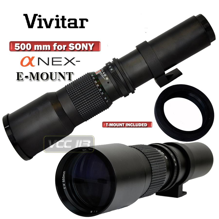 Vivitar Hd 500mm Telephoto F8 0 Lens For Sony A Nex F3 Nex