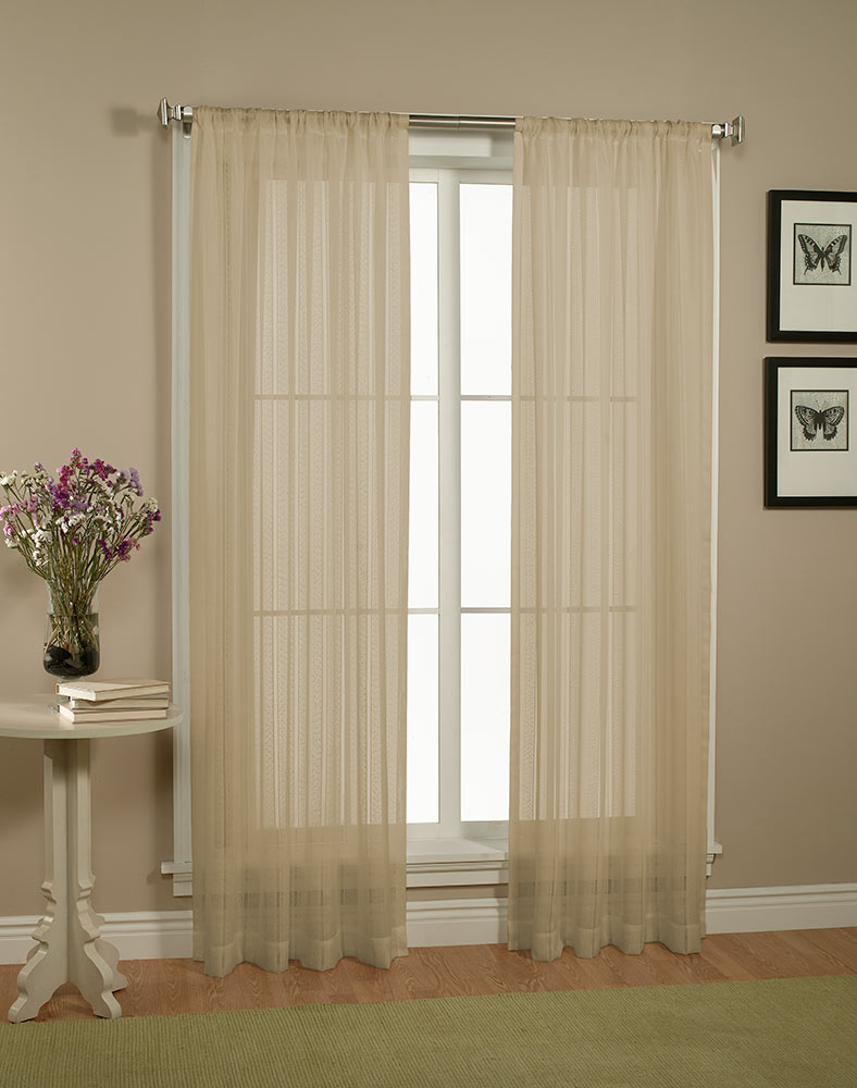 Textured Sheer Curtain Panels Extra Wide Sheer Curtain