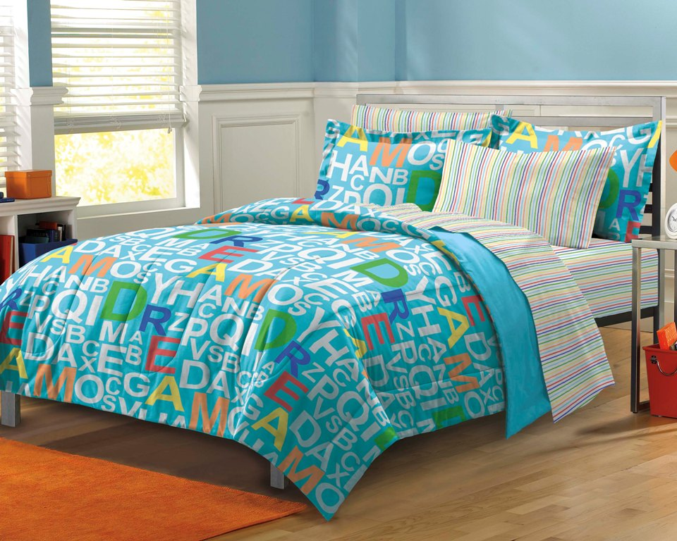 new dream blue boys girls kids bedding comforter sheet set twin xl ebay. Black Bedroom Furniture Sets. Home Design Ideas
