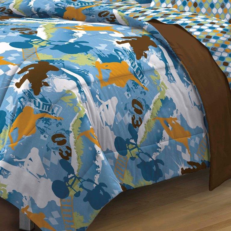 new extreme sports blue teen boys bedding comforter sheet se