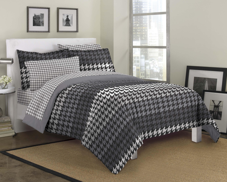 new houndstooth gray ultra soft microfiber comforter sham