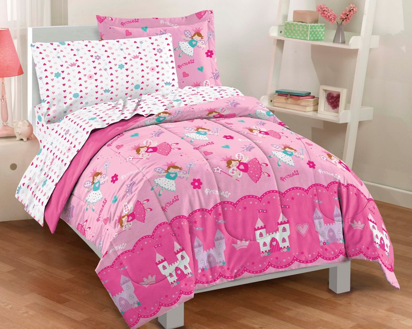 NEW Magical Princess Hearts Pink Girls Bedding Comforter ...