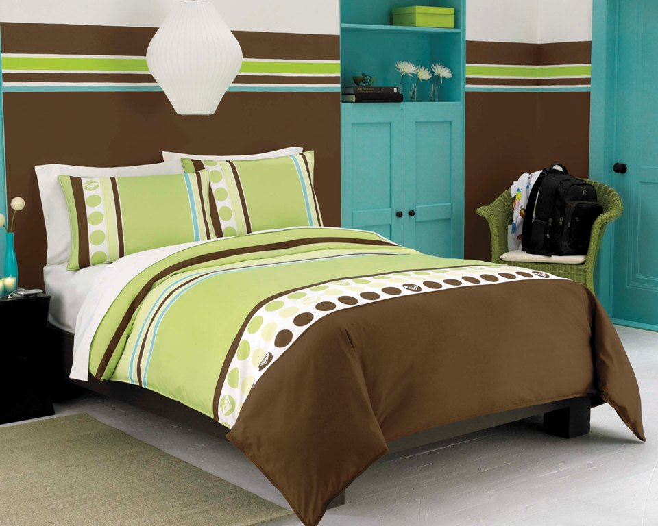 Roxy Kelly Colorblock Full/Queen Comforter And Sham