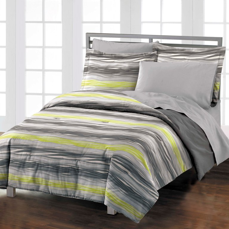 new waves gray boys teen adult cotton comforter bedding. Black Bedroom Furniture Sets. Home Design Ideas