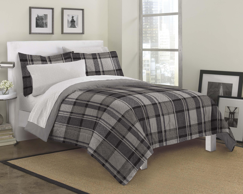 new ultimate plaid ultra soft microfiber comforter sham
