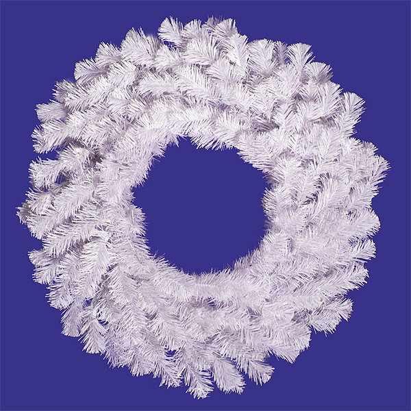 """30"""" Crystal White Spruce Artificial Christmas Wreath Unlit"""