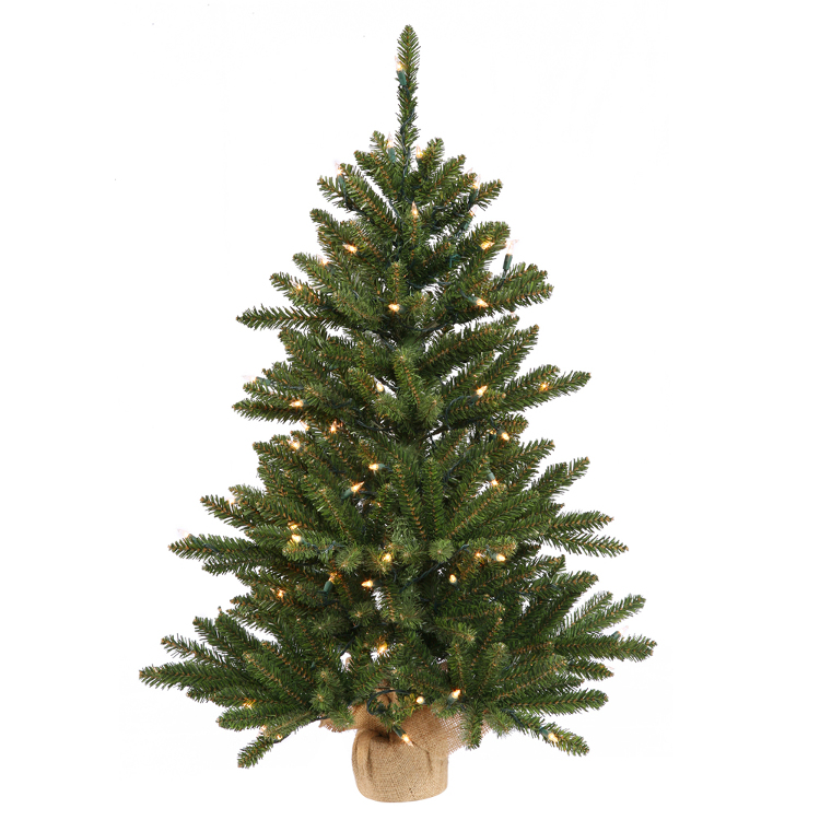 VCo 2' Pre-Lit Anoka Pine Artificial Christmas Tree with Burlap Base - Clear Lights at Sears.com