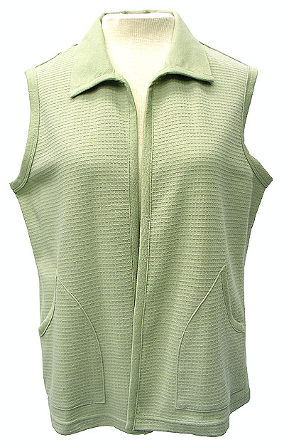 Cool Casual & Relaxed Soft Sage Green Vest Small 8-10