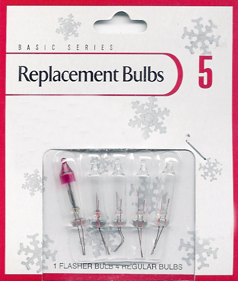 Everstar Set Of 5 Clear Replacement Bulbs For Lights Sets