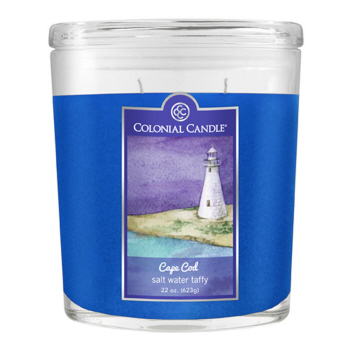 CC home Furnishings Pack of 4 Colonial Candle Salt Water Taffy Scented Blue Jar Candles 8 oz at Sears.com