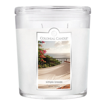 CC Home Furnishings Pack of 2 Colonial Candle Simple Breeze Scented White Jar Candles 22 oz