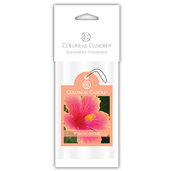 Club Pack of 18 Colonial Candle Tropical Nectar Scented Car Air Fresheners