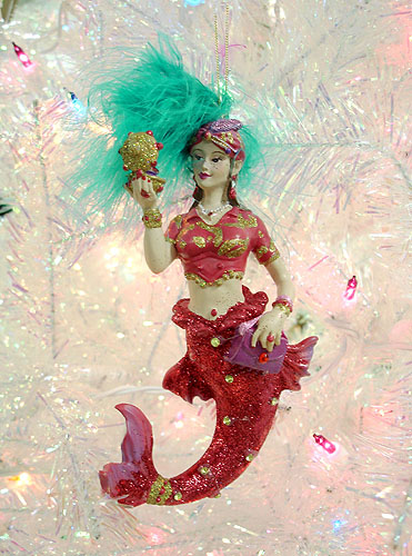 December Diamonds Red Diva Peacock Mermaid Christmas Ornament #0606119 at Sears.com
