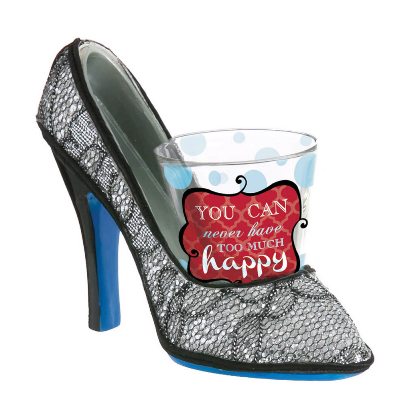 Evergreen You Can Never Have Too Much Happy Mini High Heel Shoe and Shot Glass Shoeter at Sears.com