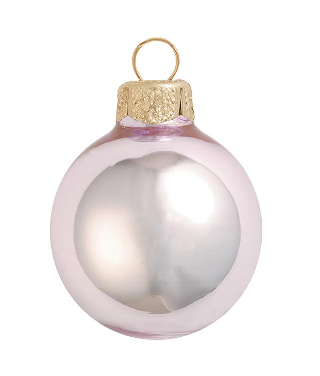 Whitehurst 40ct Shiny Baby Pink Glass Ball Christmas Ornaments 1.5