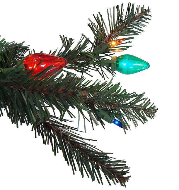 PRE LIT LED RETRO PINE ARTIFICIAL CHRISTMAS TREE   MULTI C7