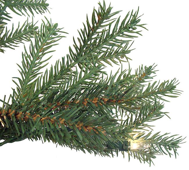 6 5' Pre Lit White Pine Fir Artificial Christmas Tree Clear Lights