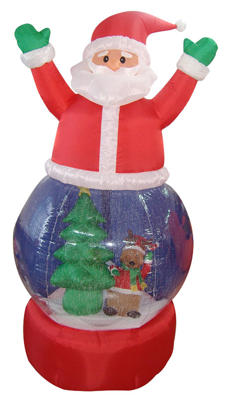 LB International 5' Airblown Inflatable Santa Claus Snow Globe Lighted Christmas Yard Art Decoration at Sears.com