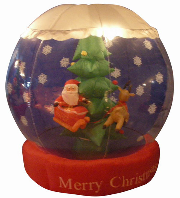 6 39 airblown inflatable animated santa snow globe christmas