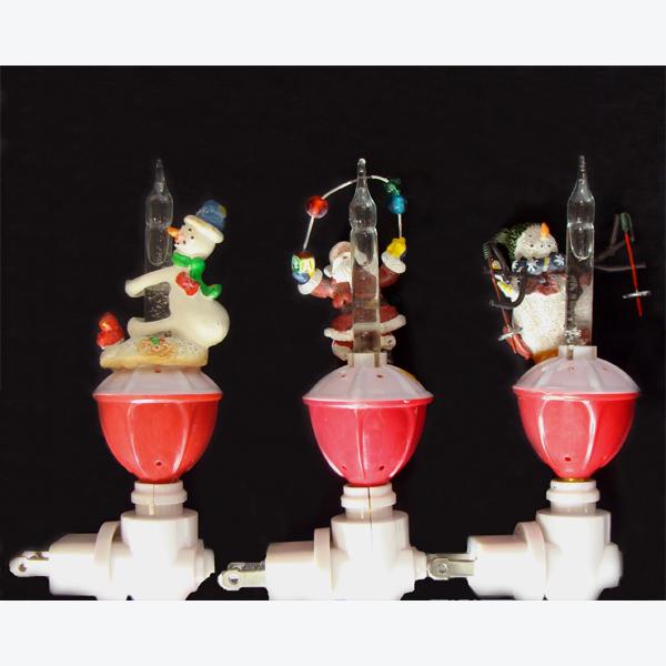 CLUB PACK OF 12 SANTA AND SNOWMEN CHRISTMAS GLITTER BUBBLE NIGHT LIGHTS 6u0026quot; : eBay
