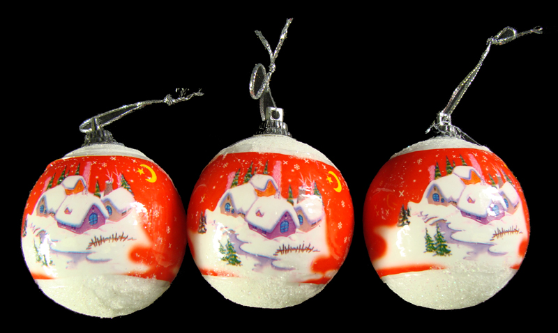 "CC Christmas Decor Club Pack of 864 Red and Blue Snow Scene Christmas Ball Ornaments 2"" at Sears.com"
