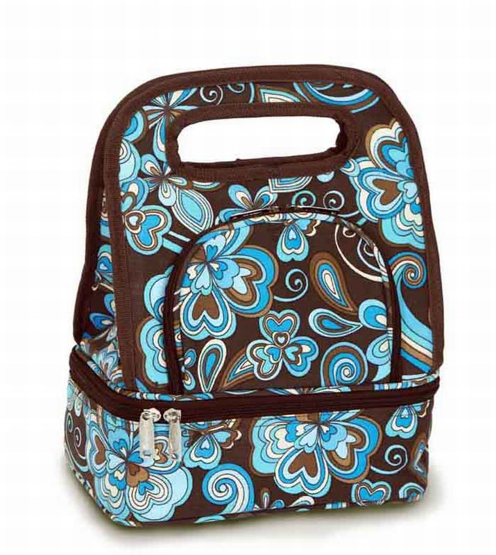 CC home Furnishings Pack of 2 Fully Insulated Lunch Bags with Food Storage Container - Cocoa Cosmos at Sears.com