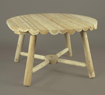 "Eco-Friendly Furnishings 48"" Outdoor Dining Natural Cedar Log-Style Round Wooden Umbrella Table at Sears.com"