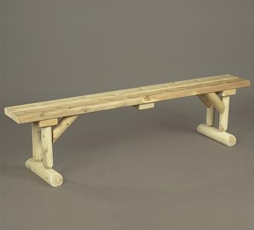 "Eco-Friendly Furnishings 68"" Natural Cedar Log-Style Indoor Wooden Dining Table Style Bench at Sears.com"