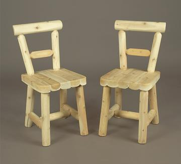 Eco-Friendly Furnishings Set of 2 Natural Cedar Log Style Wooden Indoor Dining Chairs at Sears.com
