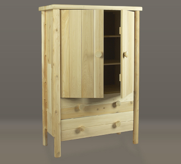 "Eco-Friendly Furnishings 58"" Natural Cedar Wooden Bedroom Armoire at Sears.com"