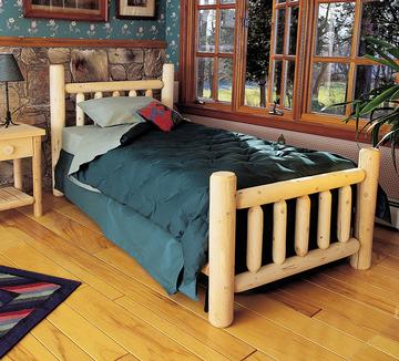 "Eco-Friendly Furnishings 76"" Cedar Log-Style Wooden Handcrafted Double Bed Frame at Sears.com"