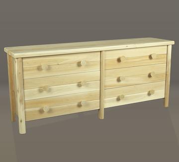 "Eco-Friendly Furnishings 70"" Natural Wooden Cedar 6-Drawer Dresser at Sears.com"