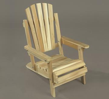 "Eco-Friendly Furnishings 27"" Natural Cedar Kid's Folding Outdoor Wooden Adirondack Chair at Sears.com"