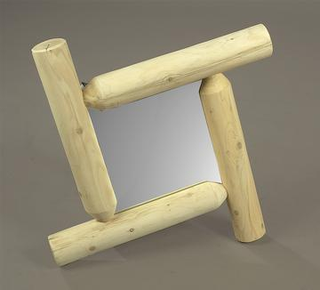 "Eco-Friendly Furnishings 27"" Natural Cedar Log-Style Wooden Square Frontier Pioneer Mirror at Sears.com"