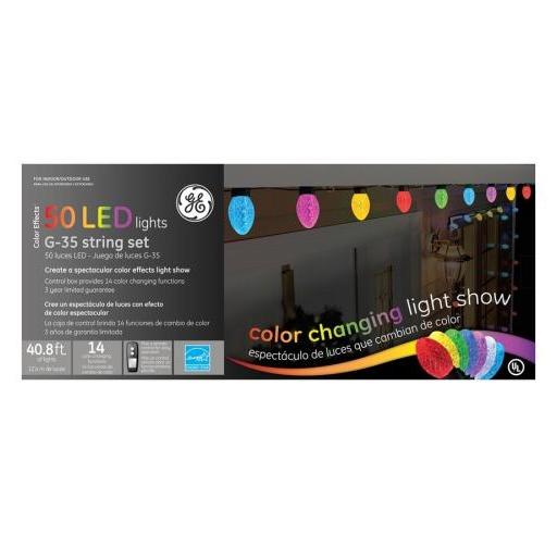Led Lights G35 String Set : SET OF 50 COLOR CHANGING LED G35 MULTI-FUNCTION GE CHRISTMAS LIGHTS WITH REMOTE eBay