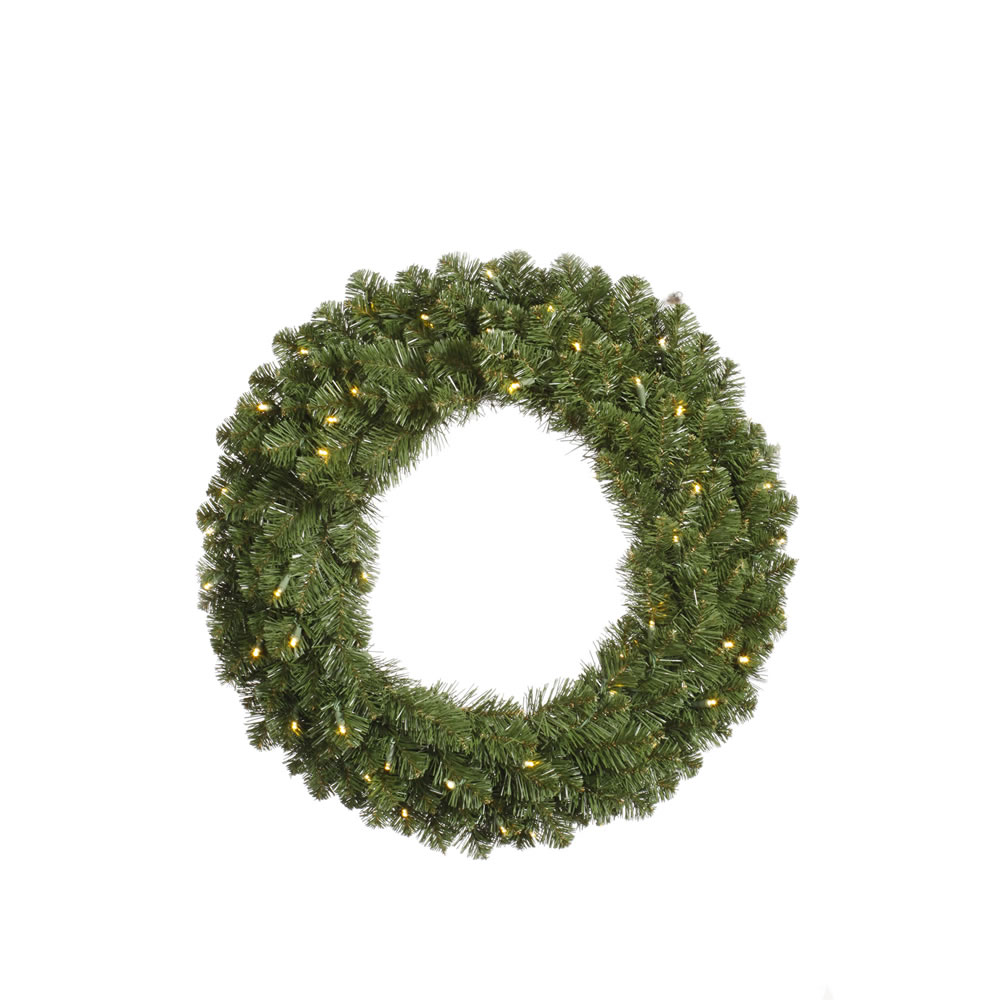 VCo 5' Pre-Lit Grand Teton Commercial Artificial Christmas Wreath ?Clear Dura Lights at Sears.com
