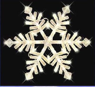 Christmas snowflake window light decor indoor outdoor ebay for 16 lighted snowflake christmas window silhouette decoration