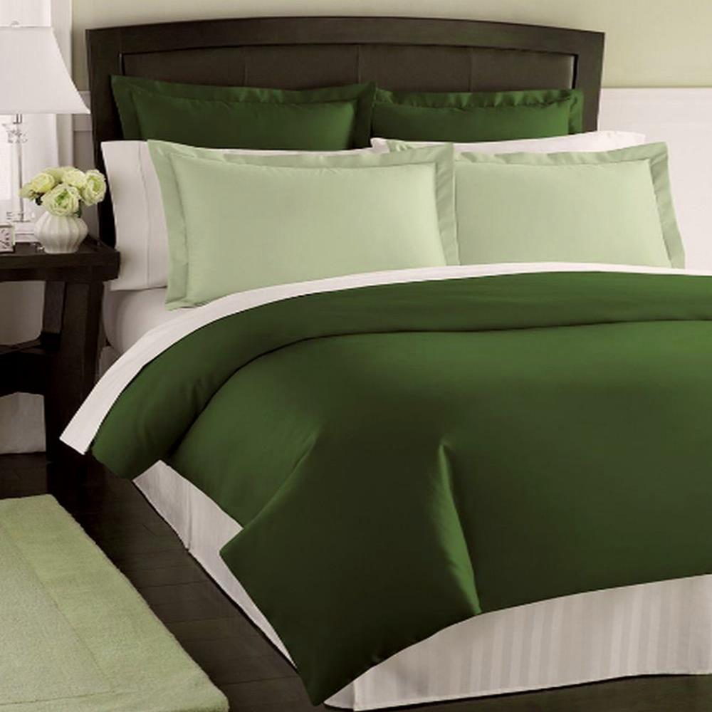 Charter Club Damask Solid 500t Ivy King Duvet Cover Ebay